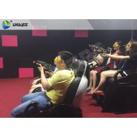 China Interactive Shooting Game 7D Cinema Equipment Simulator Motion Seats With Cabin Box wholesale