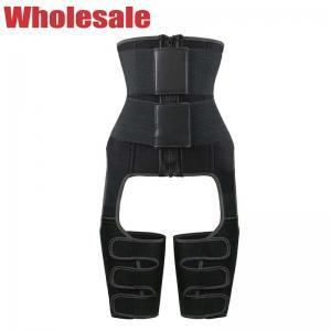 China Black Double Belt NANBIN Plus Size Waist Cincher Ultra Sweat Waist And Thigh Trimmer wholesale