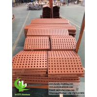 China Perforated aluminum facade metal cladding for exterior wall cover powder coated wholesale