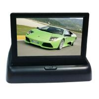 China 3.5 inch Flip Down Car Lcd Monitor Two Video Input Foldable Car Monitor wholesale