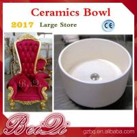 Buy cheap Wholesale Cheap Pedicure Throne Chair Ceramics Pedicure Bowl , Spa Pedicure Sinks Shower Parts from wholesalers