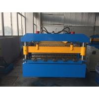 China Manual Decoiler Roof Panel Roll Forming Machine 5.5kw Motor Power YX14-74-888 wholesale