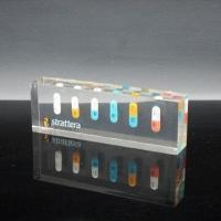 China Acrylic Resin Paperweight with Block Cube/Embedded Medical Pills, Ideal for Souvenir Gifts wholesale