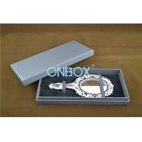 China Lid Off Packer Design Solid Cardboard Box With 2 Alternative Insert Pads For Big Necklace And Mirror wholesale