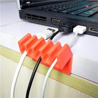 Quality Orange Households Products Cable Drop Clip Plastic Cord Divider For USB Line for sale
