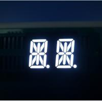 China Ultra Bright White 14 Segment Led Display Two Digit For Instrument Panel wholesale