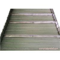 China Baffle Mesh Stainless Steel Conveyor Chain Belt High Allowable Belt Tension wholesale