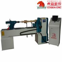 China Cheap price virable speed  CNC wood lathe machine with 2 knifes for furniture legs CNC S CE wholesale