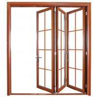 China Weatherproofing Foldable Glass Door / Bi Folding Interior Doors For Meeting Room wholesale