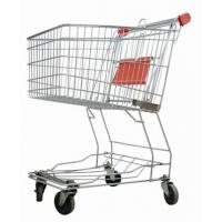 China Grocery Store Shopping Carts Unfolding Style Zinc Plated Surface Treatment on sale