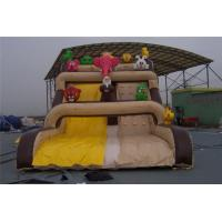 China Cartoon Inflatable Wet Slide , Backyard Blow Up Slip N Slide UV Resistance wholesale