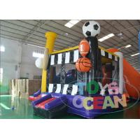 China 4 Sport Theme Inflatable Bouncer Combo Kids Outdoor Amusement With Slide wholesale