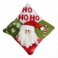 China Christmas cushion, made of 100% polyester, various colors are available wholesale