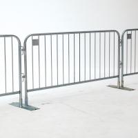 China 1.1m highx2.2m wide design, easy handle metal crowd control barrier wholesale