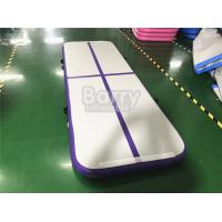Buy cheap Outdoor Small Portable Kids A Purple Air Track Gymnastics Mat For Body Building from wholesalers