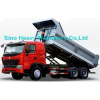 China 336HP HOWO Heavy Duty Dump Truck, red, white and blue colors, ZZ3257M3247N, 6x4 wholesale