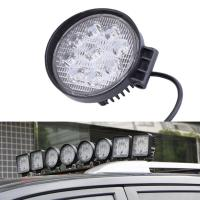 China 27W Round Vehicle LED Work Lights DC 9-30V 1620 Lm Lumens , Stainless Steel Bracket wholesale