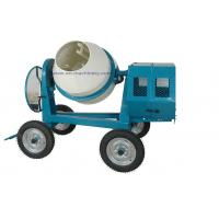 China Mini Cement Mixer Rated Overload Concrete Mixer for Cast Iron CogWheel and Rubber Wheels on sale
