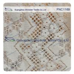 China Floral Line Holes Cotton Nylon Lace Fabric For Ladies Dressing  150CM Width wholesale