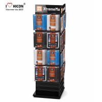 China Custom Display Stand Power Your Performance Wood Wire Spinner Rack Display wholesale