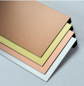 China PE Core 5005 2000mm Copper Brushed Aluminum Composite Panel wholesale