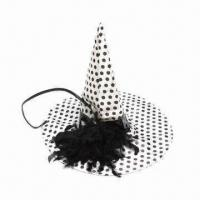 China Halloween Hat, Made of 100% Polyester, Available in Various Colors, Suitable for Parties wholesale