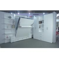 Buy cheap Double Wall bed Vertical Open With Boolshelf , White Color , E1 Grade Material from wholesalers