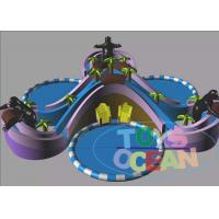 Quality Extrior Amazing Inflatable Amusement Park Security For Children for sale