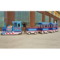 China 3kw Electric Trackless Train , Mini Express Trackless Train British Style wholesale