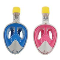 China Panoramic Visibility Easybreath Kids Full Face Snorkel Mask With Nylon Strap wholesale