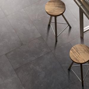 China 3D Inkjet Ceramic Kitchen Floor Tile , Anti Bacterial Black Kitchen Floor Tiles on sale