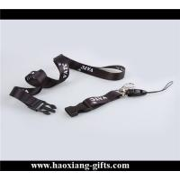 China promotion  20*900mm woven logo printing black color lanyard with plastic id card wholesale