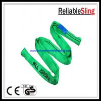China Wear - resistant loop Endless Polyester Round Slings Light weight on sale