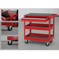 China 32 Inch Color Customizable Metal Tool Cart On Wheels With Drawer And 2 Trays on sale