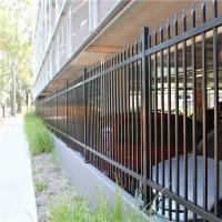 Quality Galvanized Steel Tubular Fence Stain Yellow Powder Interpon 80 Microns Thick for sale