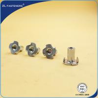 China Zinc Plated Furniture T Nut With Four Prongs Carbon Steel Material wholesale