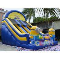 China CE Adults Despicable Minions Inflatable Slides With 0.55mm PVC Tarpaulin wholesale