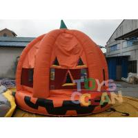 China Halloween Inflatable Pumpkin Bouncer Haunted Bouncers / Bouncy Castle For Children wholesale