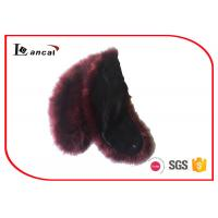 China Customized Faux Fur Scarf Faux Warm Neck Fur Hooded Scarf For Girls on sale
