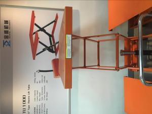 China Orange Pneumatic Lift Table With Durable Enamel Finish , Hydraulic Cylinder wholesale