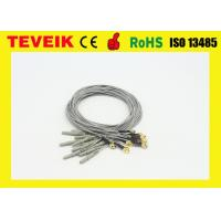 Wholesale DIN1.5 socket 1m medical cable / Gold plated copper electrode cable from china suppliers