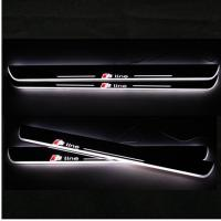 China LED Moving Door Scuff sill for AUDI A3 A4L A5 A1 A6L car pedals LED door sill plate light wholesale