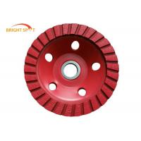 China Cold Pressed Diamond Grinding Cup Wheels Single Row Red 105 - 250mm Diameter wholesale