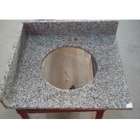 "China Tiger Skin Granite Integrated Vanity Tops 22"" X 25"" With Oval Cuout And Splashes wholesale"
