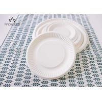 China Round White Takeaway Food Containers / Tray 8oz - 40oz Water Resistant For Cafes wholesale