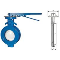 China WBLX single eccentric manual wafer soft seat butterfly valve dimension 200mm wholesale