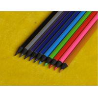China Black wooden triangle HB pencil with Metallic paint,colored lead black pencil wholesale