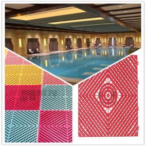 China 3W Pool/Bathroom/Washing Room/Kitchen Plastic Interlocking Maze Leak Grid Flooring Factory wholesale