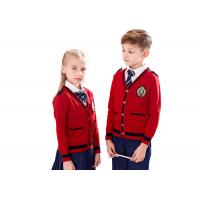 Buy cheap Gauge 12GG Cotton Knitted School Uniform Sweaters For Primary Students from wholesalers