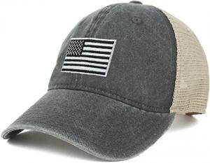 China 62cm Unisex Retro 6 Panel Snapback Cap Camo Mesh Trucker Hat wholesale